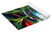 Abstract Baboon Fish Yoga Mat