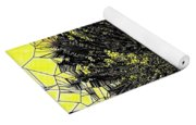 Abstract Dandelion Stained Glass Yoga Mat