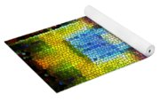 Abstract Digital Shapes Colourful Stained Glass Texture Yoga Mat