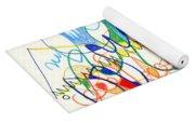 Abstract Drawing Two Yoga Mat