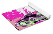 Abstract Female Tennis Player Yoga Mat