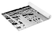 Abstract In Ice Yoga Mat
