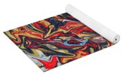 Abstract In Red Yoga Mat