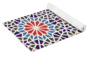 Abstract Moroccon Tiles Colorful Yoga Mat