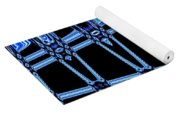 Abstract Of Blue Clock Works Yoga Mat