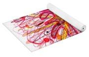 Abstract Pen Drawing Fifteen Yoga Mat