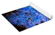 Abstract Pf Tree In Blue And Black Yoga Mat