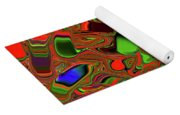 Abstract Rainbow Slider Explosion Yoga Mat