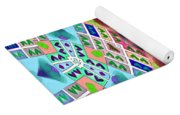 Abstract Seamless Pattern - Blue Pink Green Purple Yoga Mat
