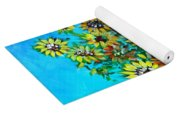 Abstract Sunflowers W/vase Yoga Mat