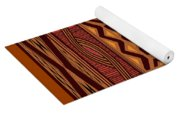 African Collage Rust Yoga Mat