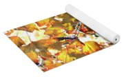 All The Leaves Are Red And Orange Fall Foliage With Sunshine Yoga Mat