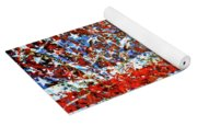 American Flag Abstract 2 With Trees  Yoga Mat