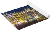 Amsterdam Canal Houses At Night Yoga Mat