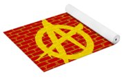 Anarchy Graffiti Red Brick Wall Yoga Mat