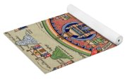 Ancient Map Of Jerusalem And Palestine Yoga Mat