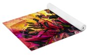 Anemone Abstracted In Fuchsia Yoga Mat