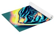 Angel Fish In Turquoise Tones Yoga Mat