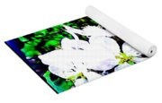 Apple Blossoms In Blue White Mist Yoga Mat