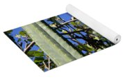 Apple Tree With Apples And Flowers. Amazing Nature Yoga Mat