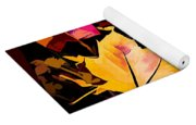 Artful Maple Leaves Yoga Mat