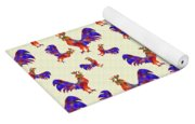 Red Rooster Art Yoga Mat