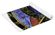 Astronomical Clock In Grunge Style Yoga Mat