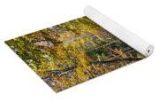 Autumn Country Road Yoga Mat