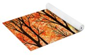 Autumn Forest Abstract  Yoga Mat