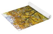 Autumn Landscape With Red Tree Yoga Mat