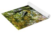 Autumn Street With Red Tree Yoga Mat