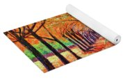 Autumn Tree Lane Yoga Mat