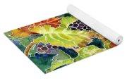 Autumn Vineyard In Its Glory - Batik Style Yoga Mat