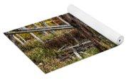 Autumn Woodland Marsh Scene Yoga Mat