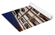 Azorean Church At Night Yoga Mat