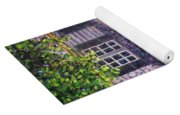 Back Yard With Flower Pots Yoga Mat