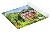 Basque Houses In Ainhoa 2- Vintage Version Yoga Mat