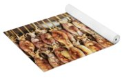 Bbq Asian Grilled Squid In Kep Market Cambodia Yoga Mat