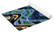 Beach Hotel Abstract 8102-3 Yoga Mat