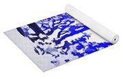 Beautiful Blue Pop Art Scene Yoga Mat