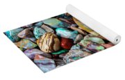 Beautiful Polished Colorful Stones Yoga Mat