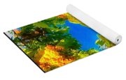 Beautiful Tree Tops In Sky Yoga Mat