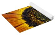 Bee And Sunflower. Yoga Mat