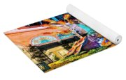 Bellagio Conservatory Fall Peacock Display Side View Wide 2 To 1 Ratio Yoga Mat