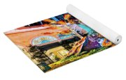 Bellagio Conservatory Fall Peacock Display Side View Wide 2017 Yoga Mat