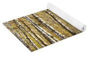 Birch Alley In Autumn Yoga Mat