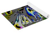 Birds That Fly In Electric Skies Yoga Mat