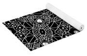 Black And White Boho Pattern 3- Art By Linda Woods Yoga Mat