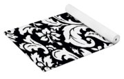 Black And White Paisley Pattern Vintage Yoga Mat