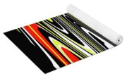 Black Yellow Red White Abstract Yoga Mat